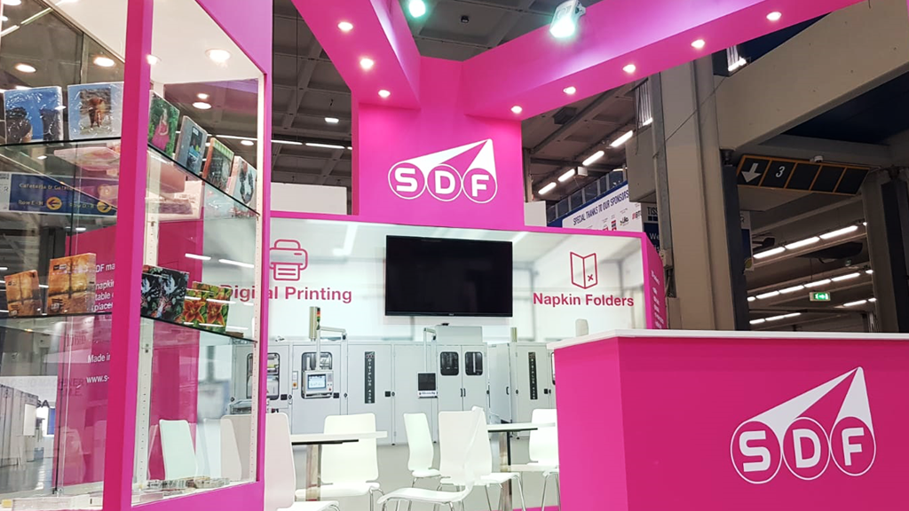SDF-Machines-stand-Tissue-World-expo-2019-design-connectdesign-agency-milano-Germany-europe-communication-tradeshow-fiere-allestimento-international-minimal-2